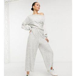 ASOS DESIGN Tall - Combinaison ample en jersey côtelé à épaules dénudées - ASOS Tall - Modalova