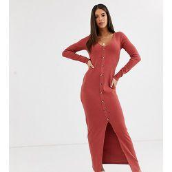 ASOS DESIGN Tall - Robe longue gaufrée à boutons - ASOS Tall - Modalova