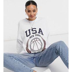 ASOS DESIGN Tall - Sweat-shirt oversize avec inscription USA et motif baseball - ASOS Tall - Modalova