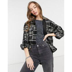 Veste chemise oversize à carreaux - Bershka - Modalova
