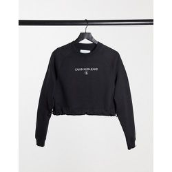 Sweat court à col ras de cou - Calvin Klein Jeans - Modalova