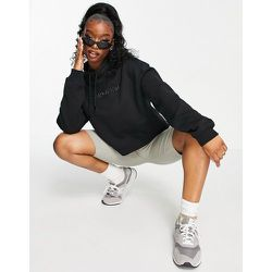 Jeans - Sweat-shirt col montant avec logo brillant en relief - Calvin Klein - Modalova
