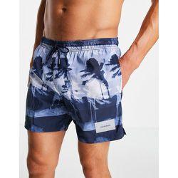 Short de bain mi-long avec cordon de serrage - ouragan - Calvin Klein - Modalova