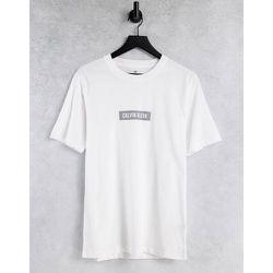 T-shirt à logo encadré réfléchissant - éclatant - Calvin Klein - Modalova