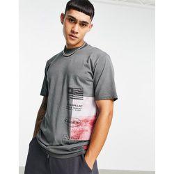 Caterpillar - T-shirt de travail avec imprimé désert sur le côté - Cat Footwear - Modalova