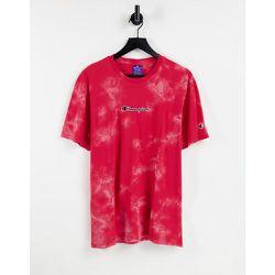 T-shirt effet tie-dye à petite inscription logo sur le devant - Champion - Modalova