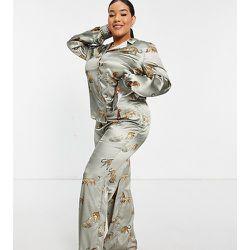 Pantalon large d'ensemble à motif tigres - Chi Chi London Plus - Modalova