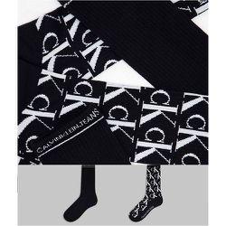 CK Jeans - John - Lot de 2paires de chaussettes à monogramme - Calvin Klein - Modalova