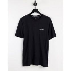 CK One - T-shirt ras de cou - Noir - Calvin Klein - Modalova