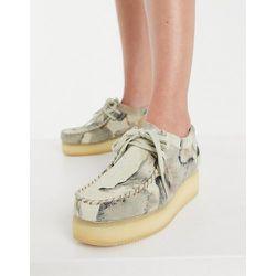 Wallacraft - Chaussures basses à semelle plateforme en nubuck - Camouflage cassé - Clarks Originals - Modalova