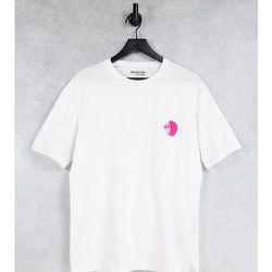Exclusivité ASOS - - T-shirt oversize en coton biologique mélangé avec palmier brodé - Selected Homme - Modalova