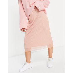 Jupe mi-longue d'ensemble en tulle motif carreaux - Fashion Union - Modalova
