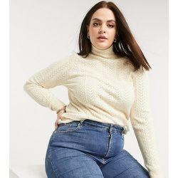 Fashion Union Petite - Pull à col montant en maille torsadée - Fashion Union Plus - Modalova