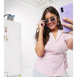 Chemise cache-cœur à carreaux vichy - Fashion Union Plus - Modalova