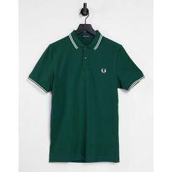 Polo avec logo et bord double rayure - Fred Perry - Modalova
