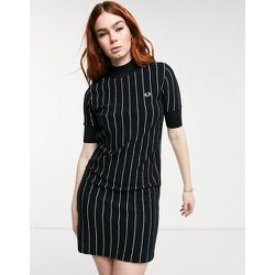 Robe en maille à fines rayures - Fred Perry - Modalova