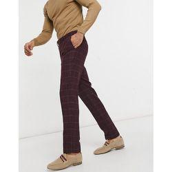 Pantalon de costume ajusté à grands carreaux - Gianni Feraud - Modalova