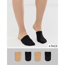 Lot de 4 paires de chaussettes pour mules - Noir et beige - gipsy - Modalova