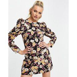 Robe courte à manches bouffantes - Imprimé floral - Girl In Mind - Modalova
