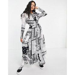 - Robe longue à manches longues et imprimé - Girl In Mind - Modalova