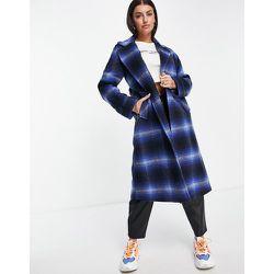 Manteau en laine mélangée croisé sur le devant - Carreaux - Helene Berman - Modalova
