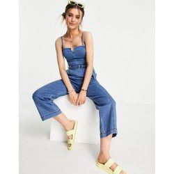 Combinaison en jean à bretelles - Indigo - Hollister - Modalova