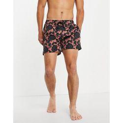 HUGO - Miso - Short de bain à fleurs - Gris/rose - HUGO Bodywear - Modalova