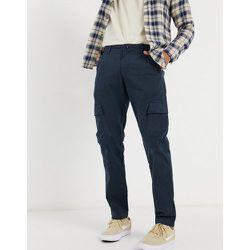 Pantalon cargo en coton biologique mélangé - Bleu - Knowledge Cotton Apparel - Modalova