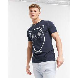 T-shirt en coton biologique à imprimé chouette - Bleu - Knowledge Cotton Apparel - Modalova