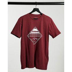 T-shirt en coton biologique à logo losange - Bordeaux - Knowledge Cotton Apparel - Modalova