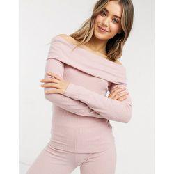 Loungewear - Top côtelé à épaules dénudées - Lipsy - Modalova