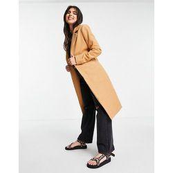Manteau droit en laine avec ceinture - Lipsy - Modalova