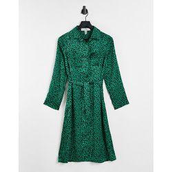 Robe chemise mi-longue imprimée - Liquorish - Modalova