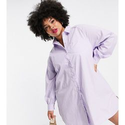 Lola May Plus - Robe chemise en popeline à manches ballon - Lola May Curve - Modalova