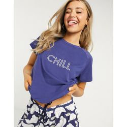 Chill -Ensemble pyjama ultra doux - Bleu marine - Loungeable - Modalova