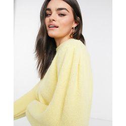Pull doux à manches bouffantes - citron - Mango - Modalova