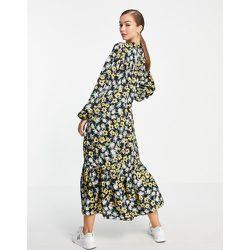 Robe babydoll mi-longue en polyester recyclé - fleuri - Mango - Modalova