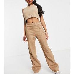 Pantalon d'ensemble large à surpiqûres - Missguided Petite - Modalova