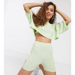 T-shirt crop top d'ensemble - Menthe - Missguided Petite - Modalova