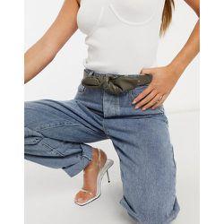 London - Ceinture taille et hanches pour jean en imitation cuir avec nœud torsadé - Kaki - My Accessories - Modalova