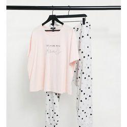 New Look Curve - Ensemble de pyjama avec jogger et t-shirt à inscription This Girl Has Goals - New Look Plus - Modalova