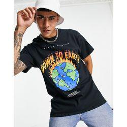 T-shirt à imprimé Earth - Noir - Night Addict - Modalova