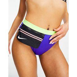 Bas de bikini taille haute avec poche à fermeture éclair - Vert et - Nike Swimming - Modalova