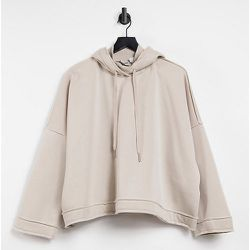 Hoodie à col montant - Taupe - Noisy May Curve - Modalova