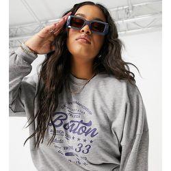 Sweat-shirt d'ensemble à motif Boston universitaire - Noisy May Curve - Modalova