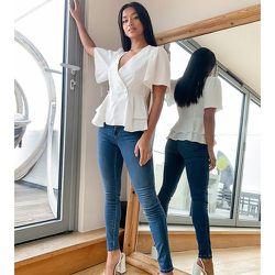 Jean skinny à taille haute - Only Petite - Modalova