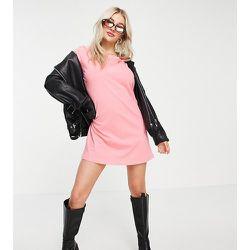 Only Petite - Robe t-shirt - Rose - Only Petite - Modalova