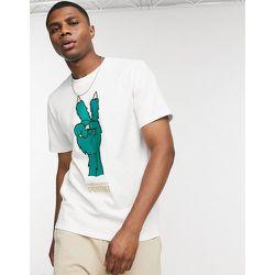X The Hundreds - T-shirt à logo peace - Blanc - Puma - Modalova
