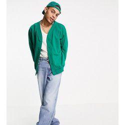 Inspired - Bomber en jersey de coton biologique - Vert forêt - Reclaimed Vintage - Modalova