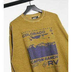 Inspired - Sweat-shirt à inscription Colorado - Kaki - Reclaimed Vintage - Modalova